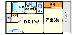 レジデンス新大阪[3階]の間取り