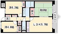 サニーガーデン[4階]の間取り