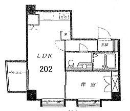 オプス尾山台[2階]の間取り
