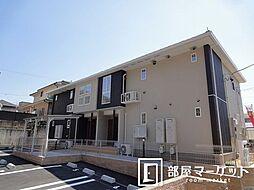 愛知県みよし市黒笹いずみ2丁目の賃貸アパートの外観