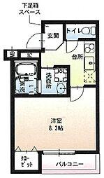 阪急宝塚本線 石橋阪大前駅 徒歩9分の賃貸アパート 1階1Kの間取り