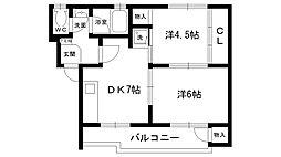 ライラックハウス[202号室]の間取り