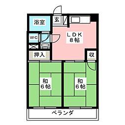第2金子ビル[5階]の間取り