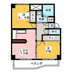サン笠取[1階]の間取り