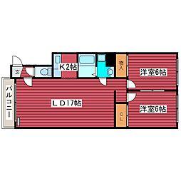 ハイムプロティア2[3階]の間取り