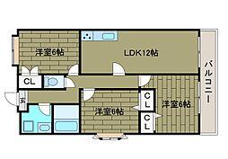コルディア町田金森[2階]の間取り