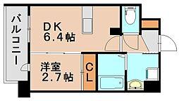アンピールメゾン春日原駅前[3階]の間取り