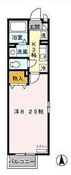 東京都三鷹市新川2丁目の賃貸アパートの間取り