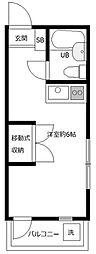 サンハイツ日野[B203号室]の間取り