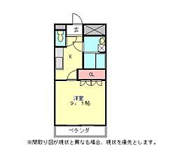 愛知県一宮市浅井町東浅井字北屋舗裏の賃貸アパートの間取り