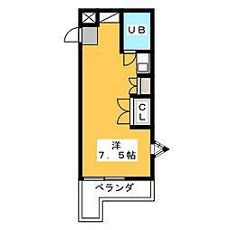 ドーム四ツ谷[1階]の間取り