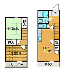 [テラスハウス] 東京都町田市南大谷 の賃貸【/】の間取り