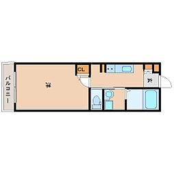 阪神本線 尼崎駅 徒歩8分の賃貸マンション 2階1Kの間取り