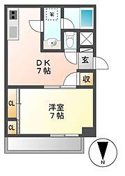 愛知県名古屋市中川区荒江町の賃貸マンションの間取り