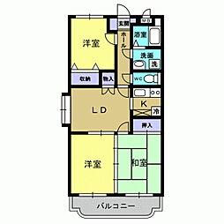 岡山県総社市三輪の賃貸マンションの間取り