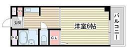 ハーバービュー東神戸[2階]の間取り