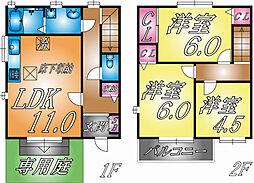 [テラスハウス] 兵庫県神戸市東灘区深江南町1丁目 の賃貸【/】の間取り