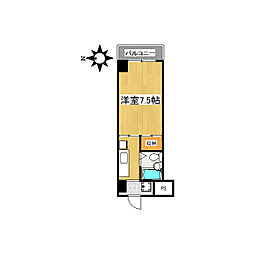 ハイツ山重[3階]の間取り