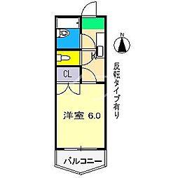 スカイプラザ新田[4階]の間取り
