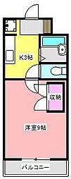 ラ・セフィーロIII[2階]の間取り