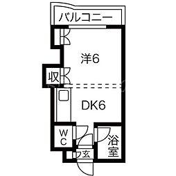 ソーシャルアパートメント中の島[3階]の間取り
