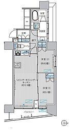 ヒューリックレジデンス新御茶ノ水 14階2LDKの間取り