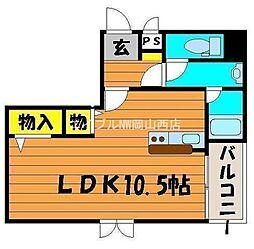 岡山県岡山市北区表町3丁目の賃貸マンションの間取り