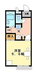 兵庫県相生市栄町の賃貸アパートの間取り