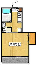 サンルージュ横浜[2階]の間取り