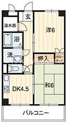 香川県高松市城東町2の賃貸マンションの間取り