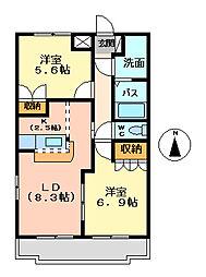 サンセットヒルズ[1階]の間取り
