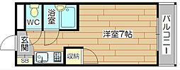 大阪府高槻市殿町の賃貸マンションの間取り