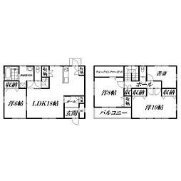 [一戸建] 静岡県浜松市東区半田山4丁目 の賃貸【/】の間取り