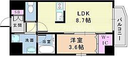 JR東海道・山陽本線 吹田駅 徒歩10分の賃貸マンション 5階1LDKの間取り