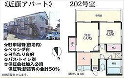 近藤アパート[202号室号室]の外観