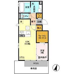 仮)D-room原木[103号室]の間取り