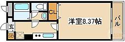 メゾン・ド・ヴィレ大阪城公園前 13階1Kの間取り