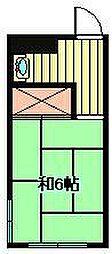 埼玉県さいたま市緑区太田窪1丁目の賃貸アパートの間取り