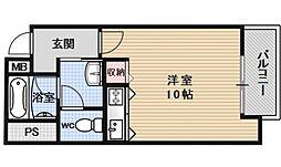 パラーティ21塚本[703号室号室]の間取り