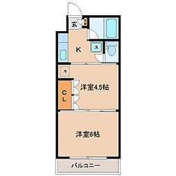 イーグルハイツ高松[2階]の間取り