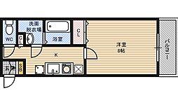 フェリエ新大阪[5階]の間取り