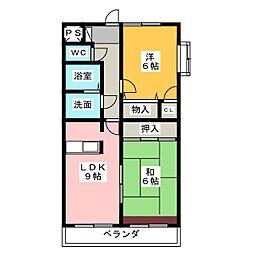 ウィスタリアコート[4階]の間取り