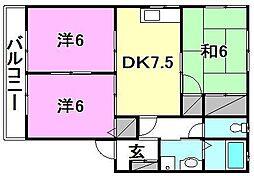 ディアス村上[B-202 号室号室]の間取り