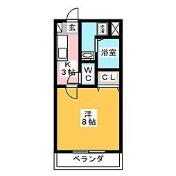 オールグランデ[2階]の間取り