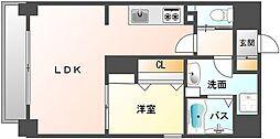 ヴィラハイネス舞鶴[6階]の間取り