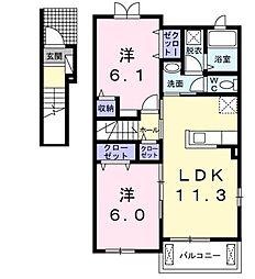 カーサ ビアンカII[2階]の間取り