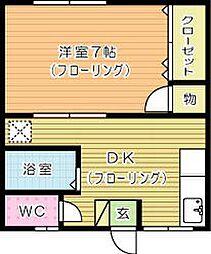 たから荘[A-2号室]の間取り