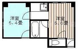 香川県高松市亀井町の賃貸マンションの間取り