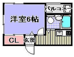 黒木マンション[2-1号室]の間取り