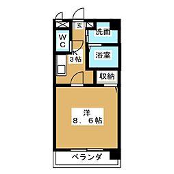 アビタシオン八事[3階]の間取り